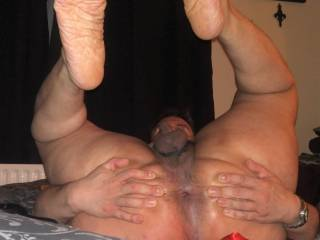 my stretched dirty hole ready for a nice tongue inside