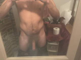 Mirror selfies of my body and cock