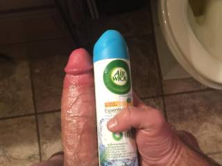 It's an air wick bottle with my dick there is no story