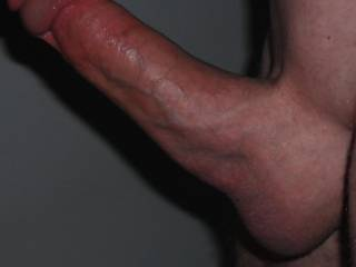 Nice looking shaved cock with smooth balls.