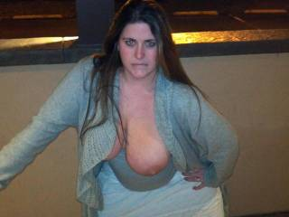 I'd ask if I could fondle, kiss, lick and suck on your gorgeous tits. Such a beautiful lady.