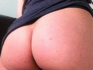 Stunning arse! Love to grab a handful while she rides my cock.