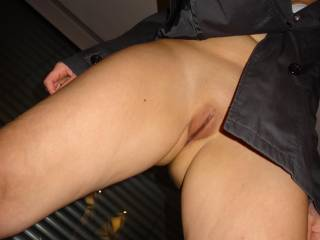 Mmmm, that is a nice and sexy pussy shot.  Would she let us spread her legs a little more so we can suck on that hot pussy and her swollen clit.  G & K