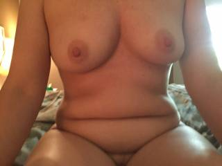 Mmmmm,i would like to suck on your hard nipples.