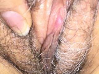 Your black and gray pussy hair gets me so hot