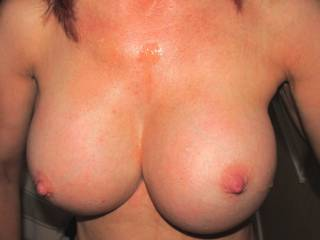 My Tits with Cum dripping down them..