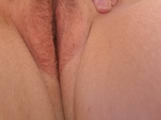 Showing me her sweet tight pussy. Ready for me to eat and ..... She's so good