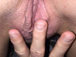 Wife starting to finger her pussy, would you help her?