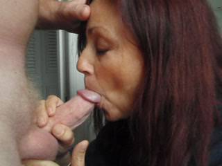 Candi Annie Milks Al\'s cock again!  They take turns stroking his cock with Candi\'s mouth open and ready to receive his full load of cum...Who\'s next!