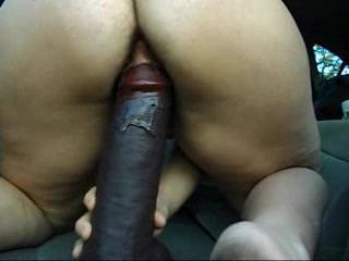 Another great video. You are hot. My wife love's me to fuck her with her big dildo, but likes it to go all the way in and out.