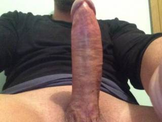 very nice long thick cock. Mouth watering. Love to suck that big cock deep into my throat and drain your balls, feel balls deep and cuming hard in my virgin ass