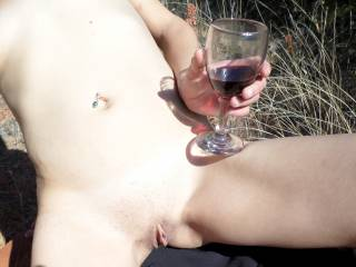 Wine and pussy is always the perfect match for a lover to enjoy, hunny. Specially when your hot vagina juices flow very creamy. It's a feast for the mouth and tongue. Mmmmhhhhhh.