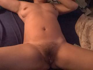 She needs a big hard cock to fill her hairy cunt