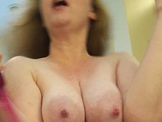 Lactating milk filled tits on display for you!