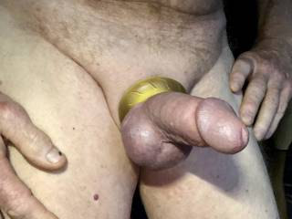 This cock ring feels amazing. I love the look and how it makes my cock and balls feel