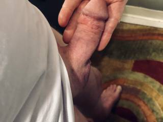 Soft cock getting hard.
