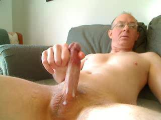 You have a great cock.  And your cumload looks delicious.  May I suck the last few drops of remaining cum from your gorgeous cock and then lick you clean?  Yes, I'll fondle your balls too!! Love, Art