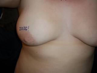 Another shot of those wonderful 38D tits of yours.