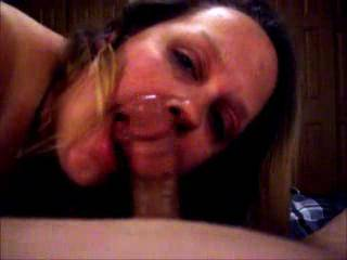 Lupo\'s wife showing off her cock sucking skills as her hubby waited at home like a good cuckold