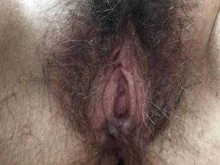 Her hot,wet hairy hole is ready.