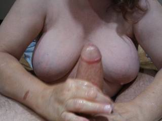 There is nothing like my husband\'s hard thick throbbing Cock in my hands.
