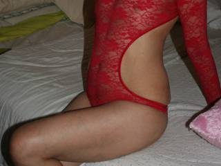 Diana\'s gift from Santa was some red lingerie. Guess Santa likes naughty. Thought we should share!