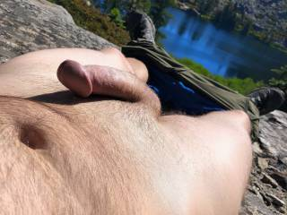 Got a little horny backpacking in the wilderness.