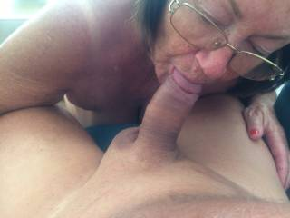Wife giving head.