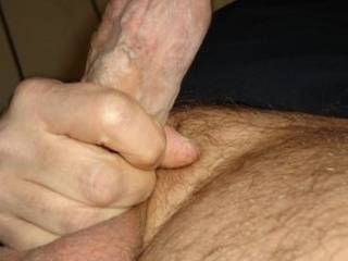 STROKING my lil' COCK!!!!!!!!!!!!!...................