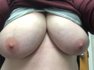 Wife's beautiful tits.  She would love some positive feedback to upload more!!!!
