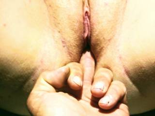 after fucking, I had to play some more..bae had to get a feel when my pussy came and squeezed his finger! Don\'t y\'all love when a lady cums everywhere??