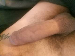 Laying early Sunday thinking about a nice pussy riding my cock. What would you do with this if you woke up next to me