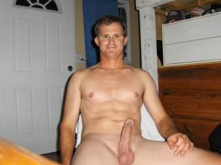 Stay there so I can lick your cock and balls.