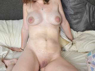 She's so much more than a hot MILF. I totally love the color of her hot and smooth pussy. I wonder about how many guys had the joy to fuck her before she married you. I don't have a doubt her horny pussy and her vagina juices are sooooo tasty and rich to go down on her and eat her out several times a day. She's a hot wife to share with your best male friends. She's a keeper.