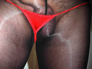 You need a much bigger thong than that !!! Lol