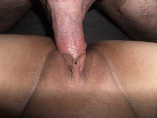I love watching his cock go in my pussy