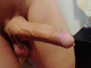 a moment ago, I drained my dick, a little flowing :)