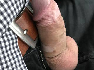 Flashing my dick in my car