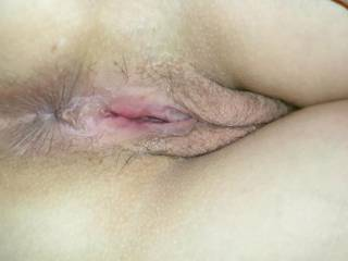 Like when my pussy gapes like this? Push your tongue right in...