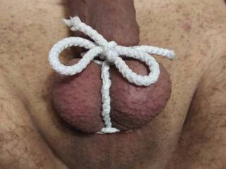 Wifey\'s first involvement in cock bondage 4