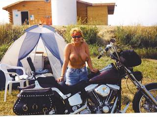 just flashing my tits at the camp site