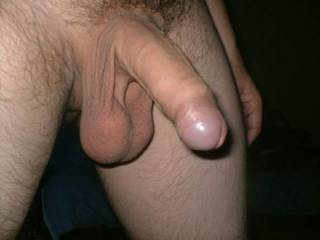 Beautiful uncut cock and ball sack...NICE!