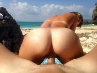 who want to join us outside with this view, would love lots of woman getting on top of my hard cock on this beach...