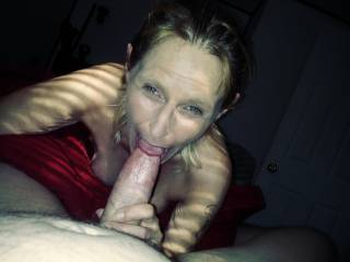 Laid down on bed to get killer bj