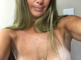 My tits need to be sucked and fondled, then I need a dick shoved in my mouth. Guys, you have a dick to fill my mouth?