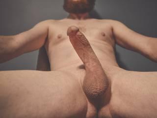Nude self portrait.
