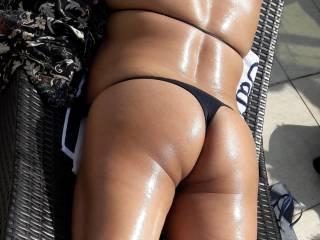 My wife ass bikini