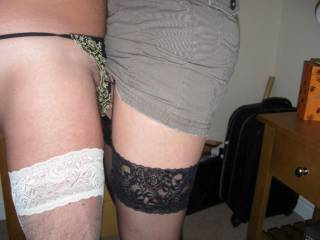 wish that was me with my cock against your pussy rubing stockings together