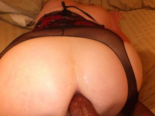 I could feel her Loosing Up to Accept More of My Black Cock Inside Her Ass