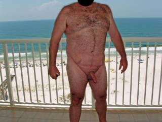 Summer 2008 Beach Vacation.  Hubby posing in the nude in various outdoor locations around the condo.  He was so exposed and vulnerable to getting caught...it was HOT!